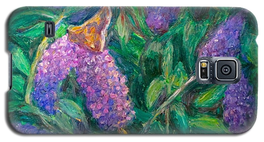 Butterfly Galaxy S5 Case featuring the painting Butterfly View by Kendall Kessler