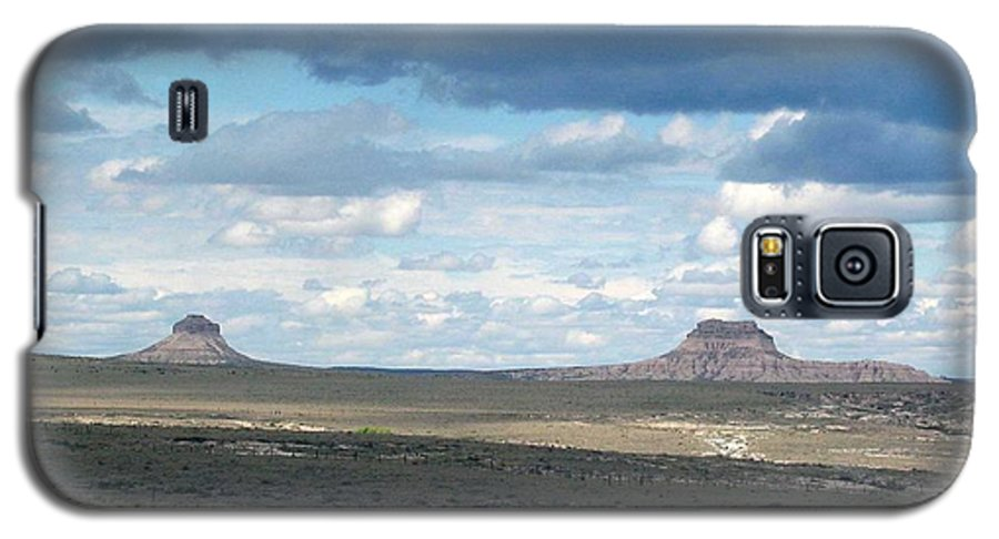 Big Sky Galaxy S5 Case featuring the photograph Buttes by Margaret Fortunato