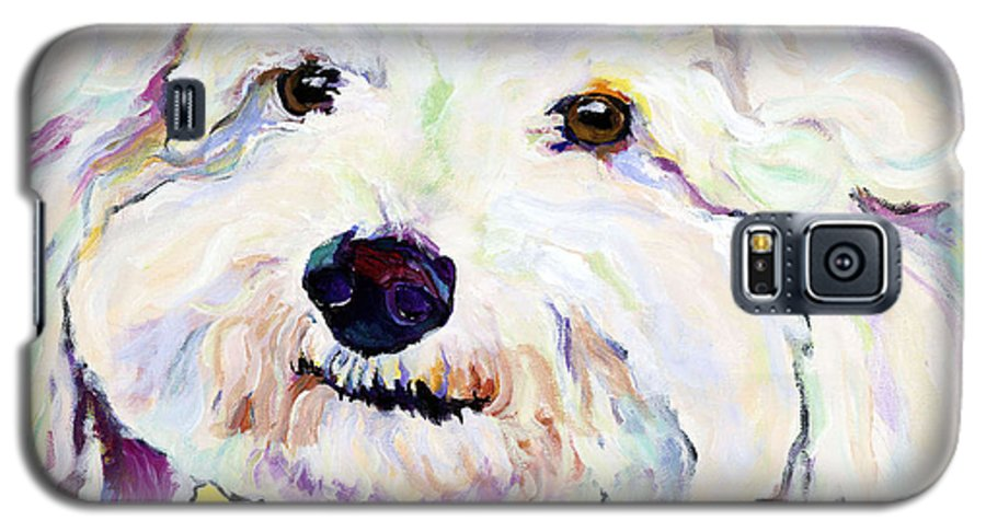 Bischon Galaxy S5 Case featuring the painting Buttons  by Pat Saunders-White