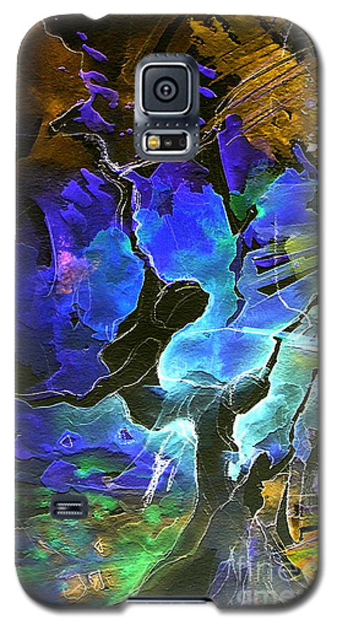 Miki Galaxy S5 Case featuring the painting Bye by Miki De Goodaboom