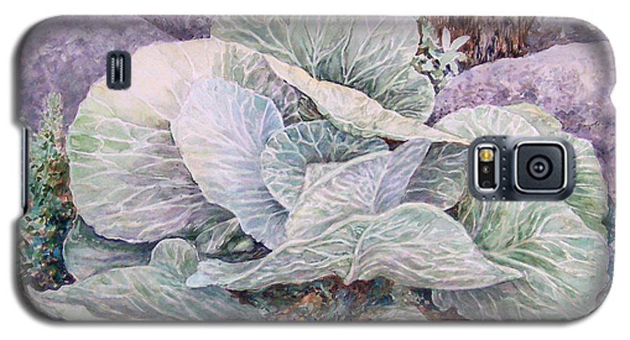 Leaves Galaxy S5 Case featuring the painting Cabbage Head by Valerie Meotti
