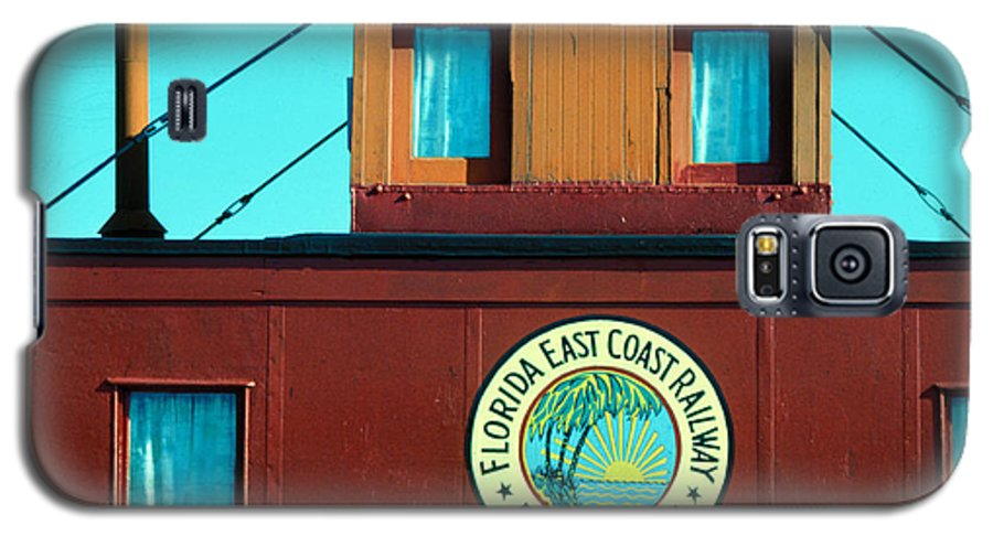 Florida Keys Train Railroad Galaxy S5 Case featuring the photograph Caboose by Carl Purcell