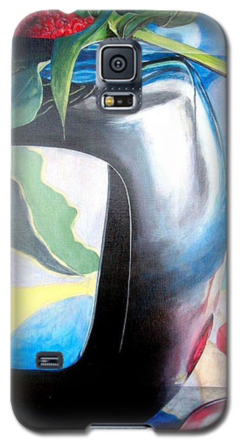 Nature-morte Galaxy S5 Case featuring the painting Cadre by Muriel Dolemieux