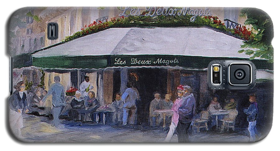 Cafe Magots Galaxy S5 Case featuring the painting Cafe Magots by Jay Johnson