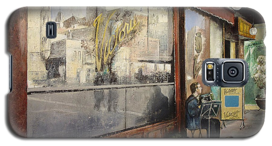 Cafe Galaxy S5 Case featuring the painting Cafe Victoria by Tomas Castano