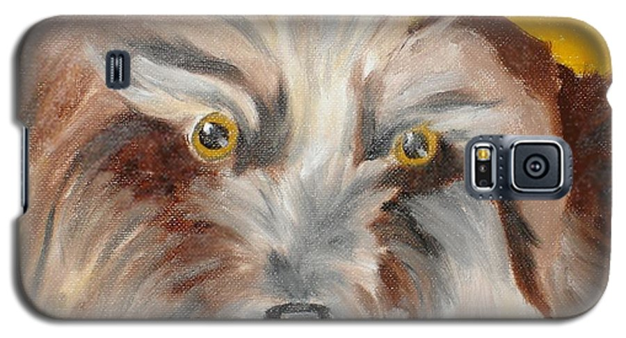 Dog Galaxy S5 Case featuring the painting Cairn Terrier by Susan Kubes