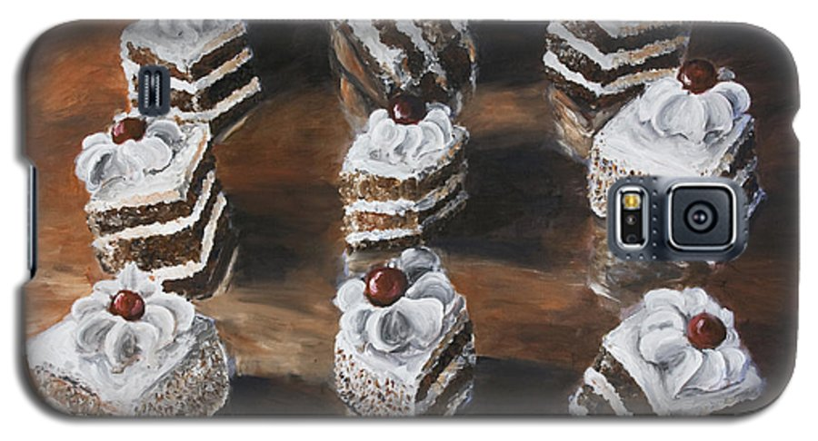 Cake Galaxy S5 Case featuring the painting Cake by Nik Helbig