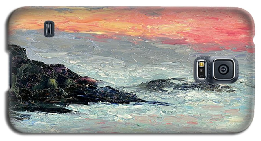 Seascape Galaxy S5 Case featuring the painting California Coast by Gail Kirtz