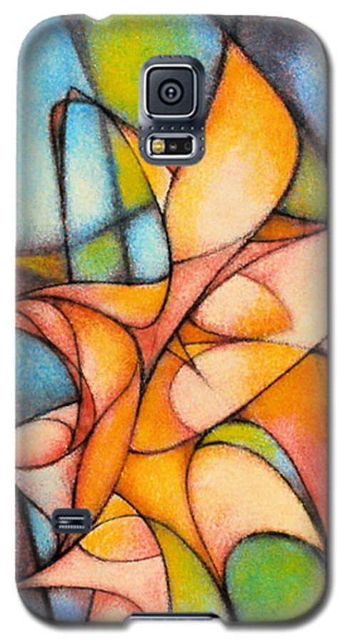 Contemporary Galaxy S5 Case featuring the painting Calla Lillies by Kevin Lawrence Leveque