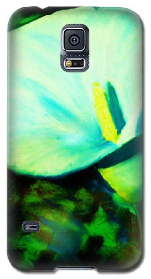 White Calla Lily Galaxy S5 Case featuring the painting Calla Lily by Melinda Etzold