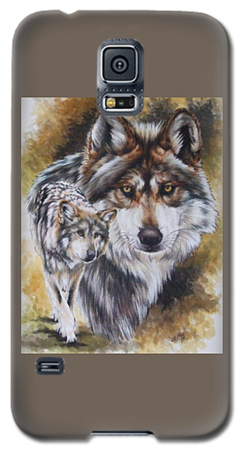 Wildlife Galaxy S5 Case featuring the mixed media Callidity by Barbara Keith