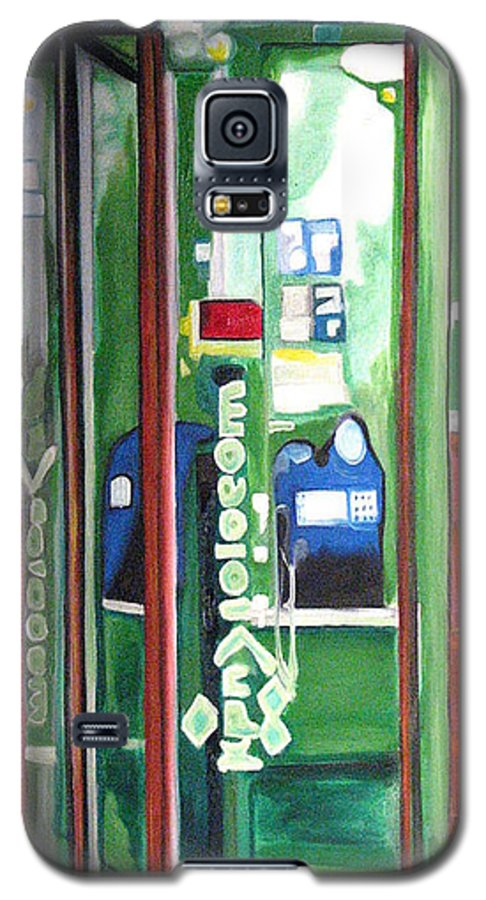 Abstract Galaxy S5 Case featuring the painting Calling Dam by Patricia Arroyo
