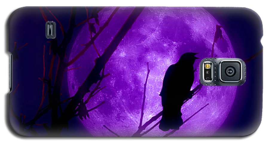 Moon Galaxy S5 Case featuring the photograph Calling Out To The Night by Kenneth Krolikowski