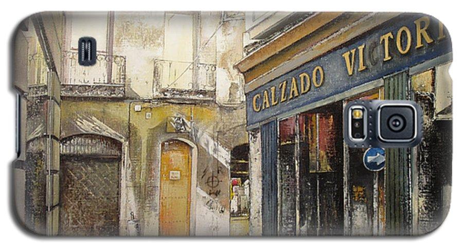 Calzados Galaxy S5 Case featuring the painting Calzados Victoria-leon by Tomas Castano