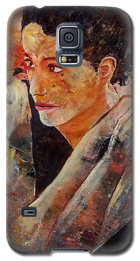 Figurative Galaxy S5 Case featuring the painting Candid Eyes by Pol Ledent