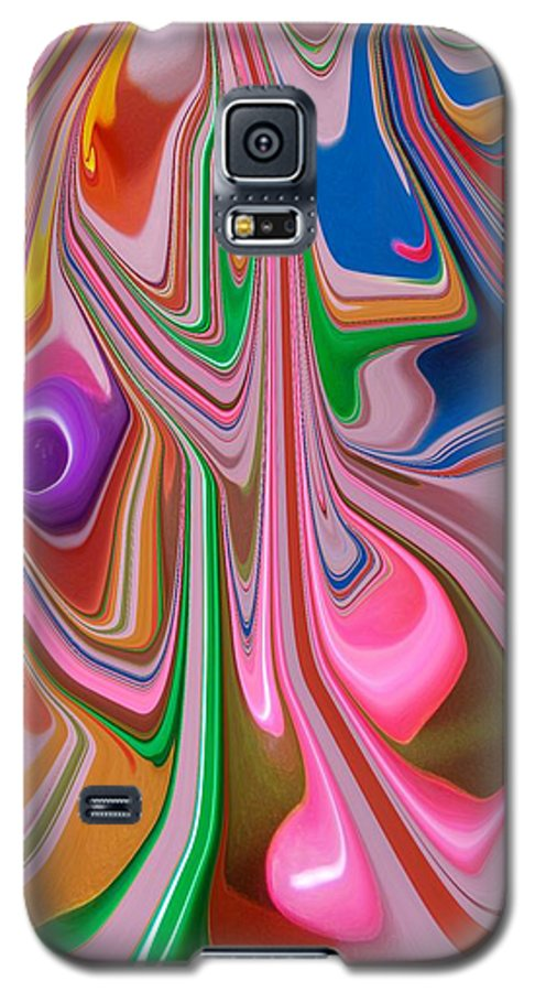 Abstract Galaxy S5 Case featuring the photograph Candy Melt by Florene Welebny