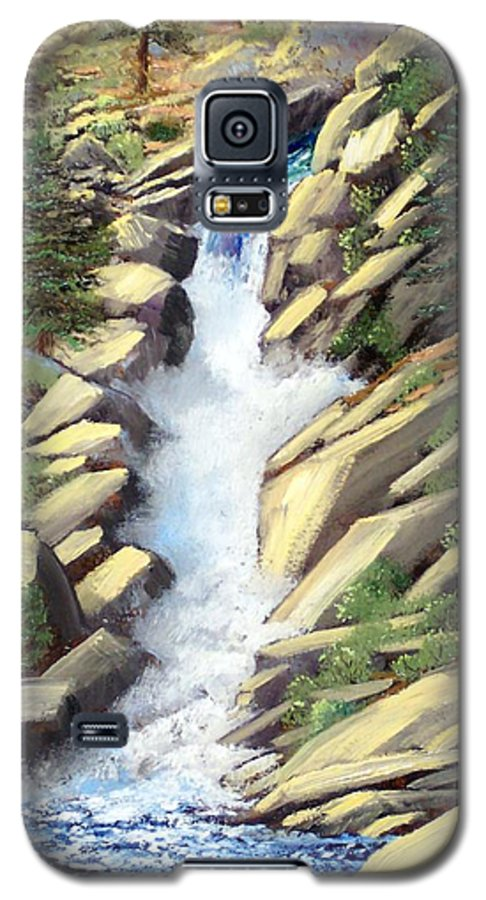 Landscape Galaxy S5 Case featuring the painting Canyon Falls by Frank Wilson