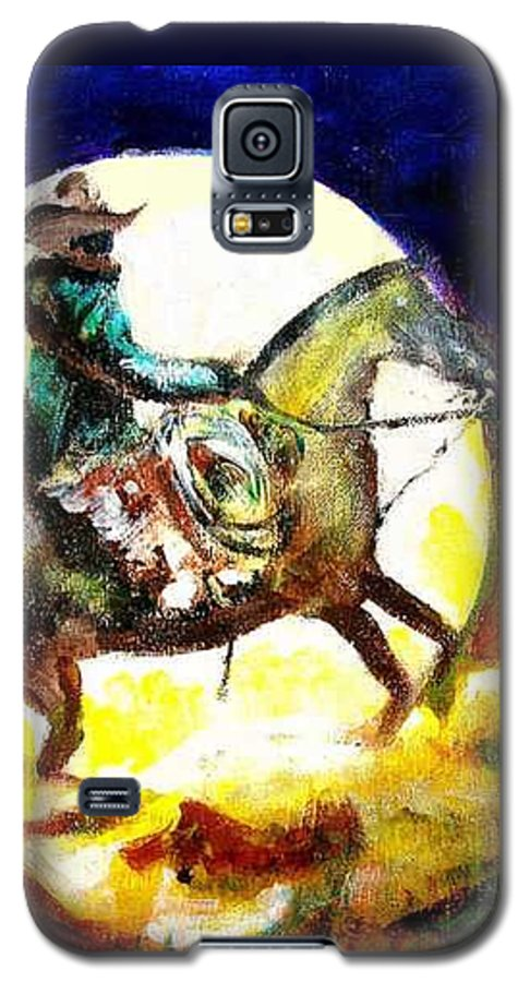 Canyon Moon Galaxy S5 Case featuring the painting Canyon Moon by Seth Weaver