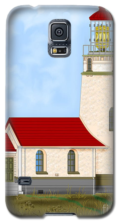 Lighthouse Galaxy S5 Case featuring the painting Cape Blanco Oregon by Anne Norskog