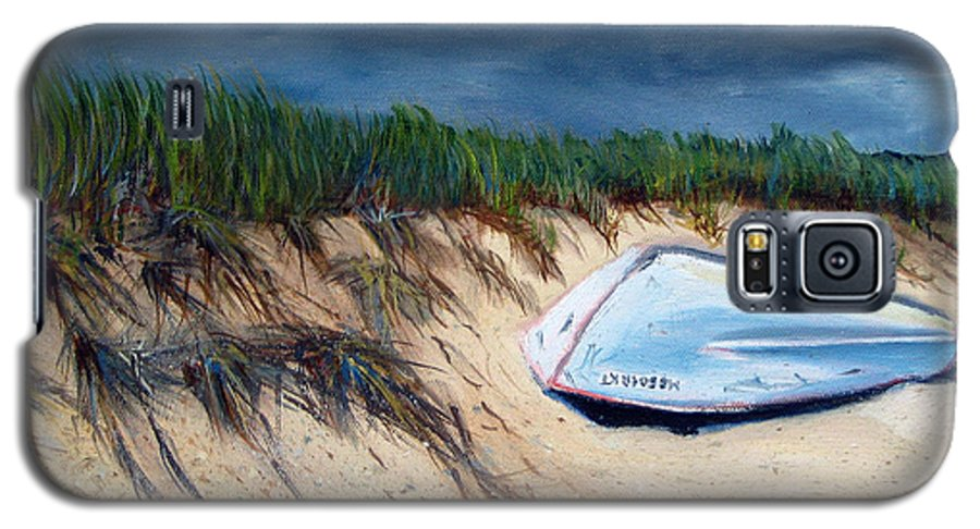 Boat Galaxy S5 Case featuring the painting Cape Cod Boat by Paul Walsh