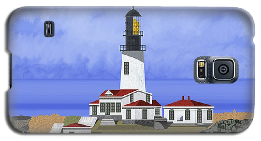 Seascape Galaxy S5 Case featuring the painting Cape Flattery Lighthouse On Tatoosh Island by Anne Norskog
