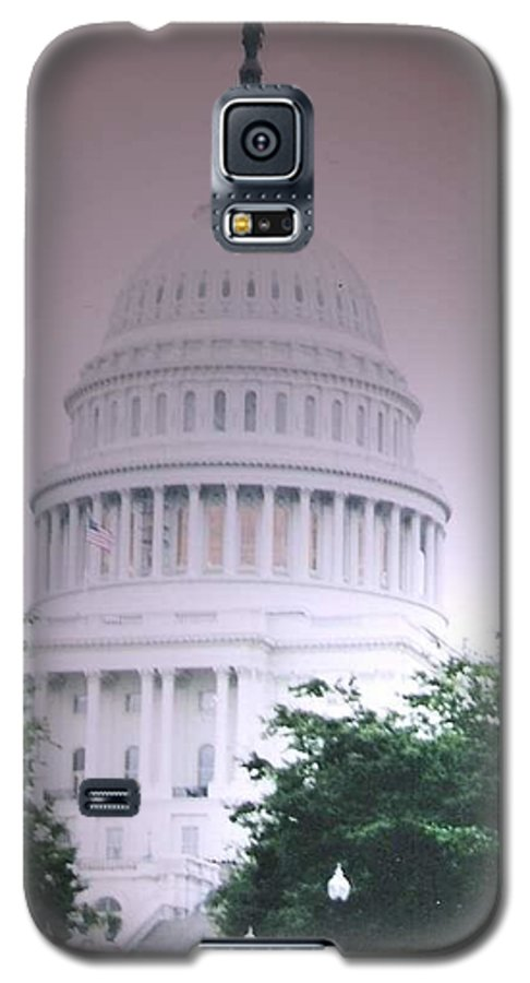 Capitol Galaxy S5 Case featuring the photograph Capitol In Pink by Pharris Art