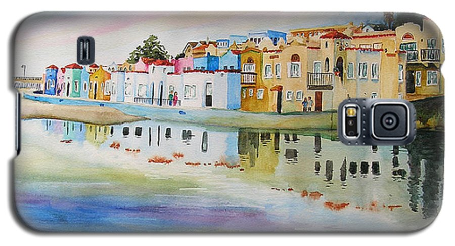 Capitola Galaxy S5 Case featuring the painting Capitola by Karen Stark