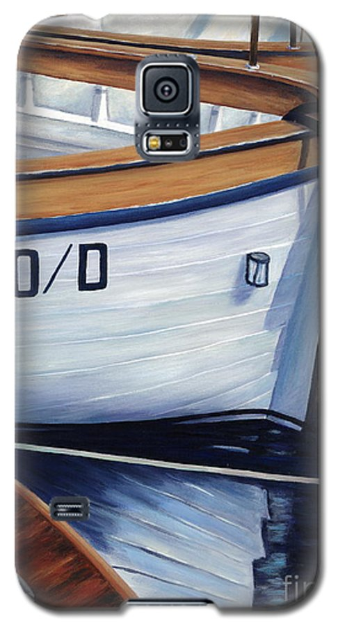 Nautical Galaxy S5 Case featuring the painting Capri Boats by Danielle Perry