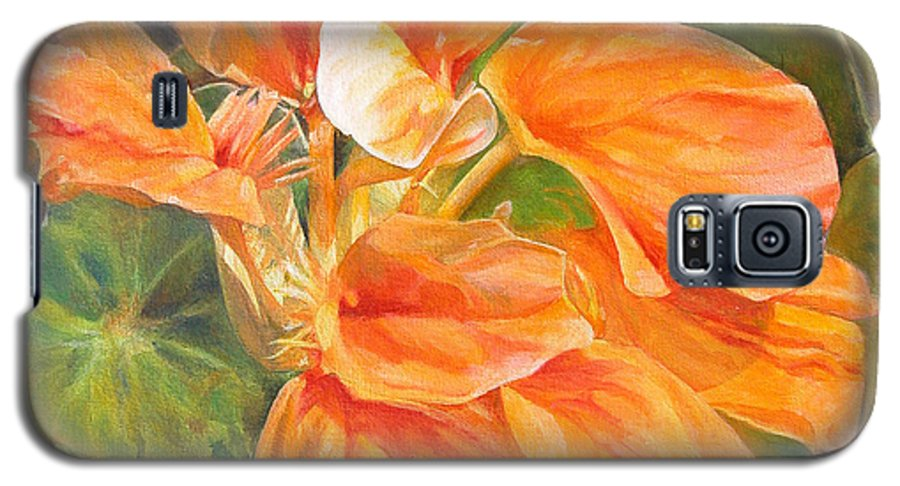 Floral Painting Galaxy S5 Case featuring the painting Capucine by Muriel Dolemieux