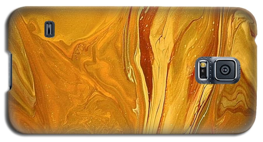 Abstract Galaxy S5 Case featuring the painting Caramel Delight by Patrick Mock