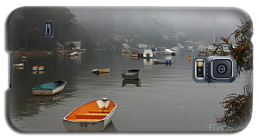 Mist Galaxy S5 Case featuring the photograph Careel Bay Mist by Avalon Fine Art Photography