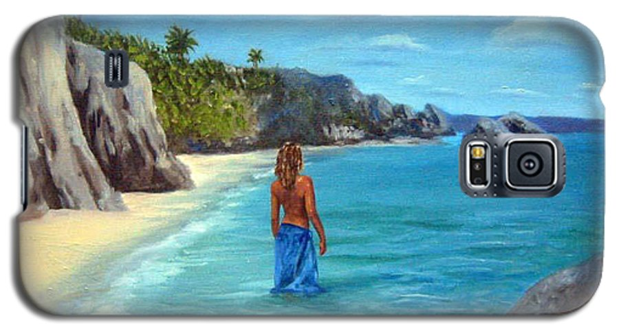 Landscape Galaxy S5 Case featuring the painting Caribean Dreaming by Anne Kushnick