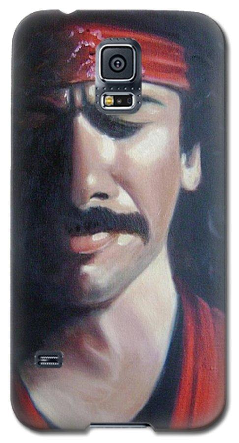 Santana Galaxy S5 Case featuring the painting Carlos Santana by Toni Berry