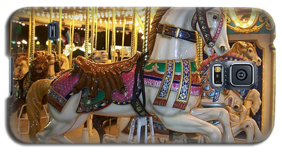 Carosel Horse Galaxy S5 Case featuring the photograph Carosel Horse by Anita Burgermeister