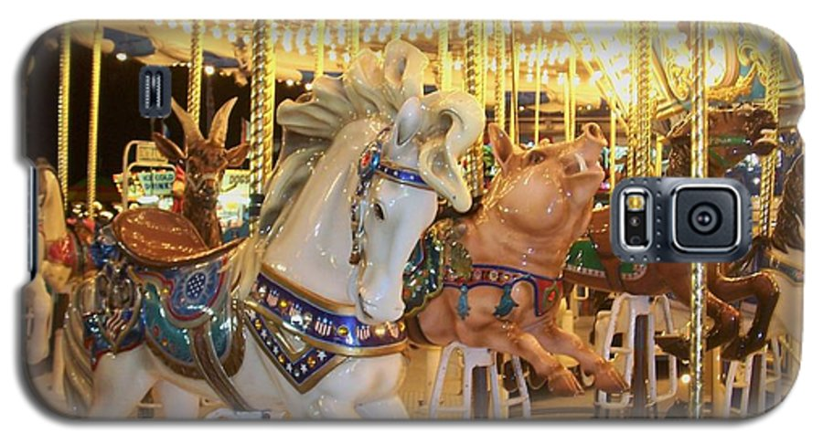 Carosel Horse Galaxy S5 Case featuring the photograph Carousel Horse 2 by Anita Burgermeister