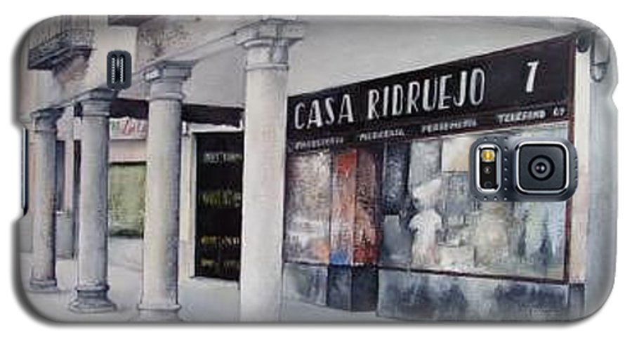 Casa Galaxy S5 Case featuring the painting Casa Ridruejo Arevalo by Tomas Castano