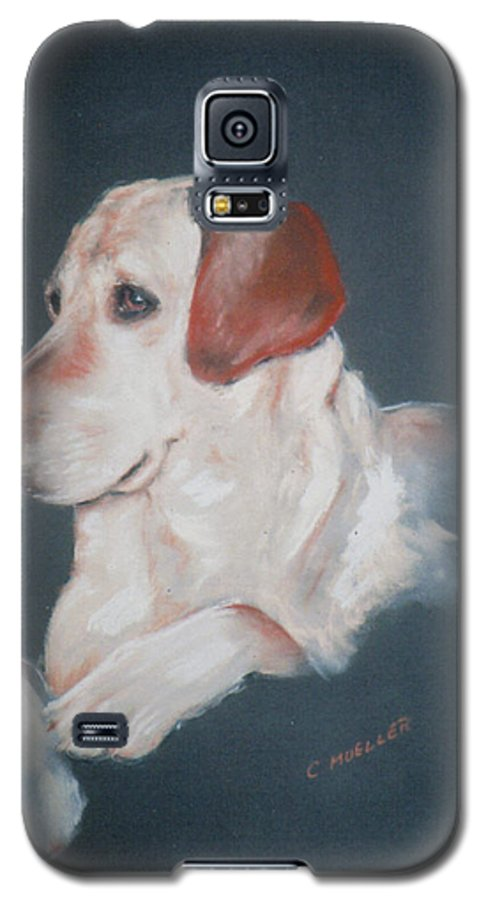 Dog Galaxy S5 Case featuring the painting Casey by Carol Mueller