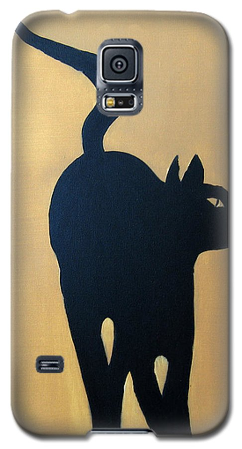 Cat Galaxy S5 Case featuring the painting Cat Dance..... Optical Illusion by Patrick Trotter
