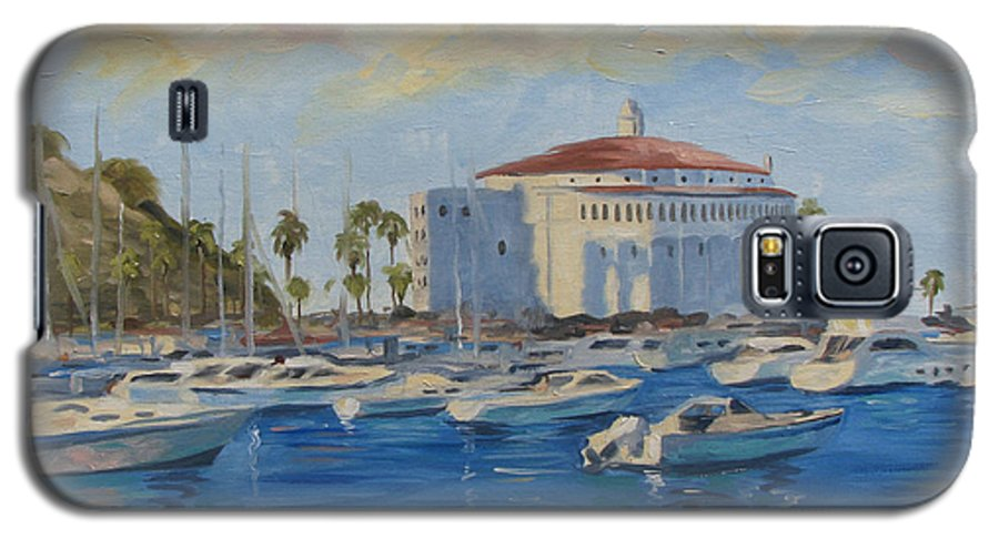 California Galaxy S5 Case featuring the painting Catallina Casino by Jay Johnson
