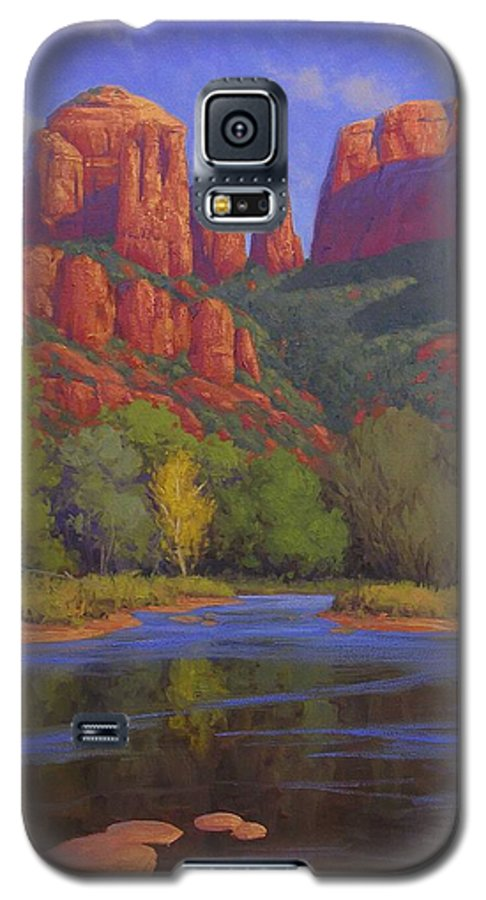 Sedona Galaxy S5 Case featuring the painting Cathedral Morning by Cody DeLong