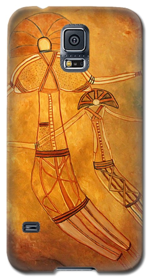 Cave Painting Galaxy S5 Case featuring the painting Cave Love by Pilar Martinez-Byrne