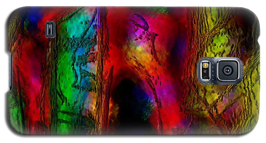 Abstract Galaxy S5 Case featuring the painting Caverns Of The Mind by Dee Flouton