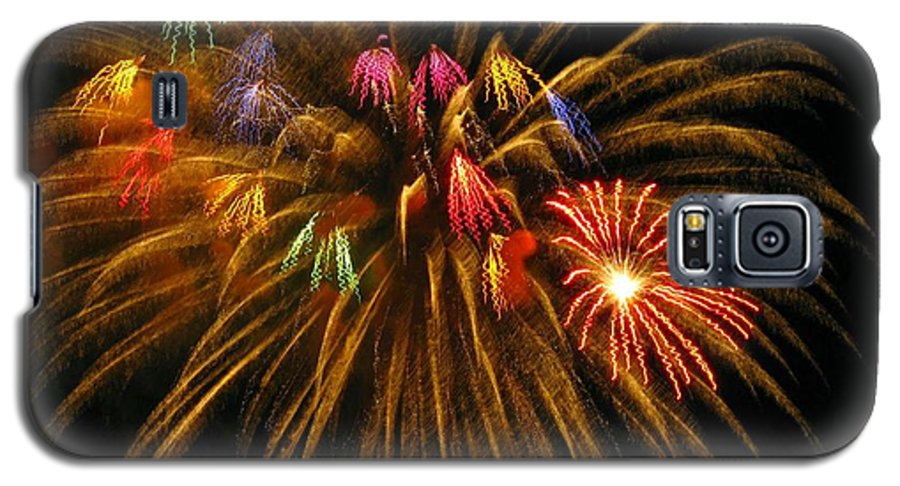 Fireworks Galaxy S5 Case featuring the photograph Celebrate by Rhonda Barrett