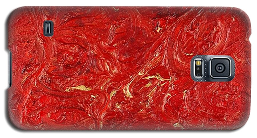 Red Galaxy S5 Case featuring the painting Celebration by Nadine Rippelmeyer