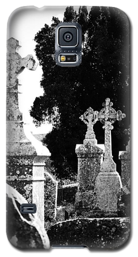 Celtic Galaxy S5 Case featuring the photograph Celtic Crosses At Fuerty Cemetery Roscommon Ireland by Teresa Mucha