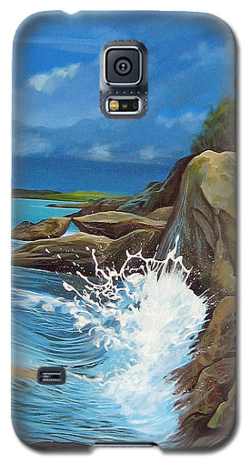 Ocean Galaxy S5 Case featuring the painting Cerulean by Hunter Jay