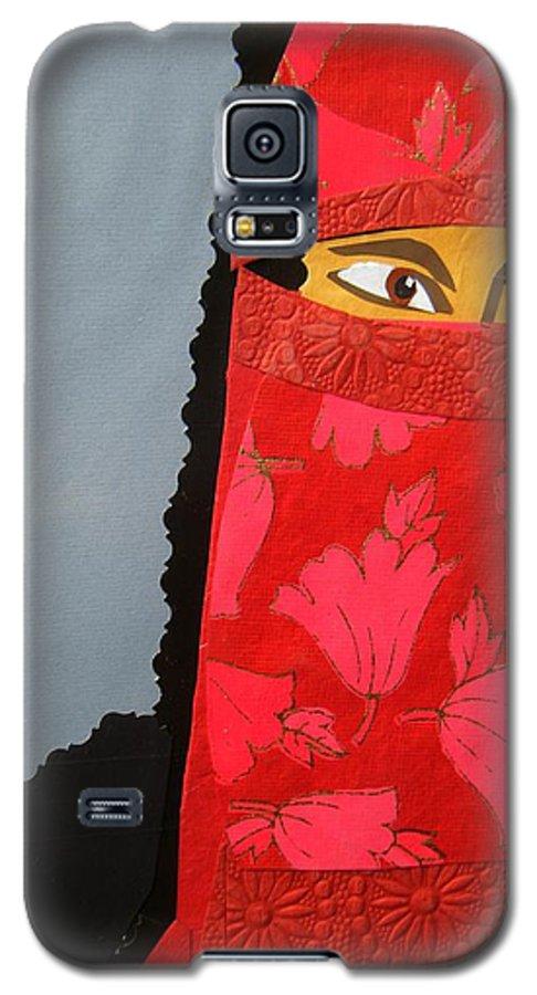 Woman Galaxy S5 Case featuring the mixed media Chador by Debra Bretton Robinson