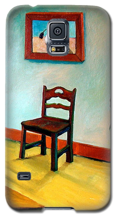 Apartment Galaxy S5 Case featuring the painting Chair And Pears Interior by Michelle Calkins