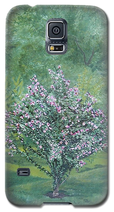 Blooming Galaxy S5 Case featuring the painting Charles Street by Leah Tomaino