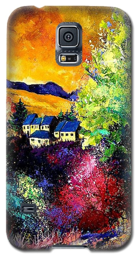 Landscape Galaxy S5 Case featuring the painting Charnoy by Pol Ledent